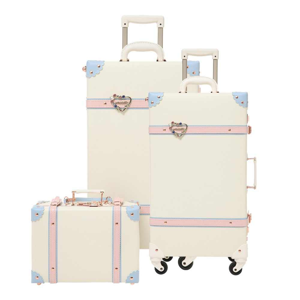 ea507d337 2019 luggage rolling hardside PU girls spinner suitcase with wheels 24inch  luggage sets Kids children