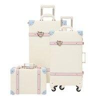 2019 Багаж прокатки hardside PU Спиннер для девушек чемодан с колесиками 24 дюймов багажные наборы дети