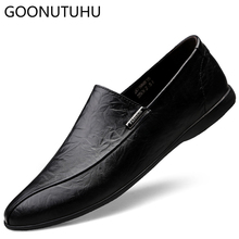 2019 new fashion men's shoes casual genuine leather cow loafers male classics brown white & black shoe man driving shoes for men все цены