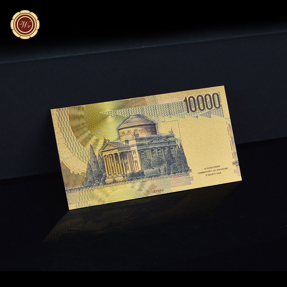 Banknotes Lire Gold Foil Banknote Hot 10thousand Italian Lira For Value Collection In From Home Garden On