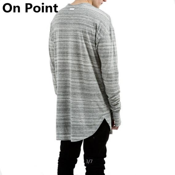 Hip Hop designer mens long sleeve thumb hole elongated shirt vintage hype  extra overiszed t shirts layer extended tee men 90158694d