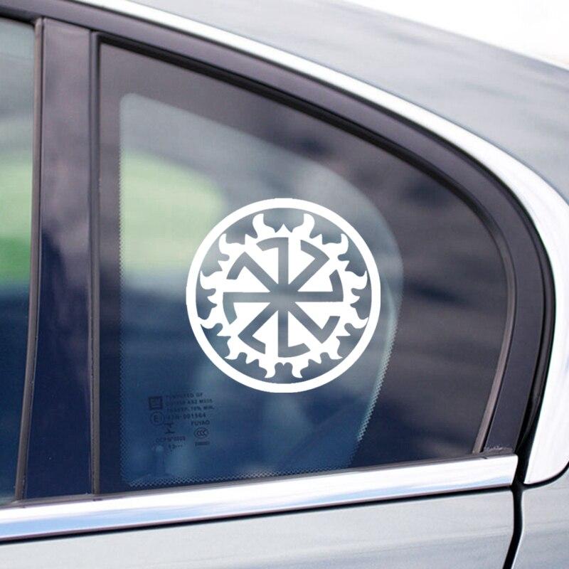 CS 515 15 15cm Car sticker for Kolovrat in Perun funny car sticker and decal silver black vinyl auto car stickers in Car Stickers from Automobiles Motorcycles