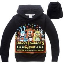 Five Nights At Freddy T-shirt Boys Clothes Long Sleeve Cartoon Hoodies Kids Sport Fnaf Children Clothing Kikikids Tshirt DC1045