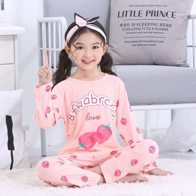 659e61bbd016e Nouvelle vente 2019 printemps été fille vêtements de nuit costumes belle  Gilr Pyjamas enfants Pyjamas filles dessin animé Pijamas enfants vêtements  ensemble