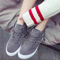 Women Casual Shoes Winter Women Sneakers Fashion Flock Leather Warm Plush Women Shoes Breathable Lace Up Flats Soft Leisure