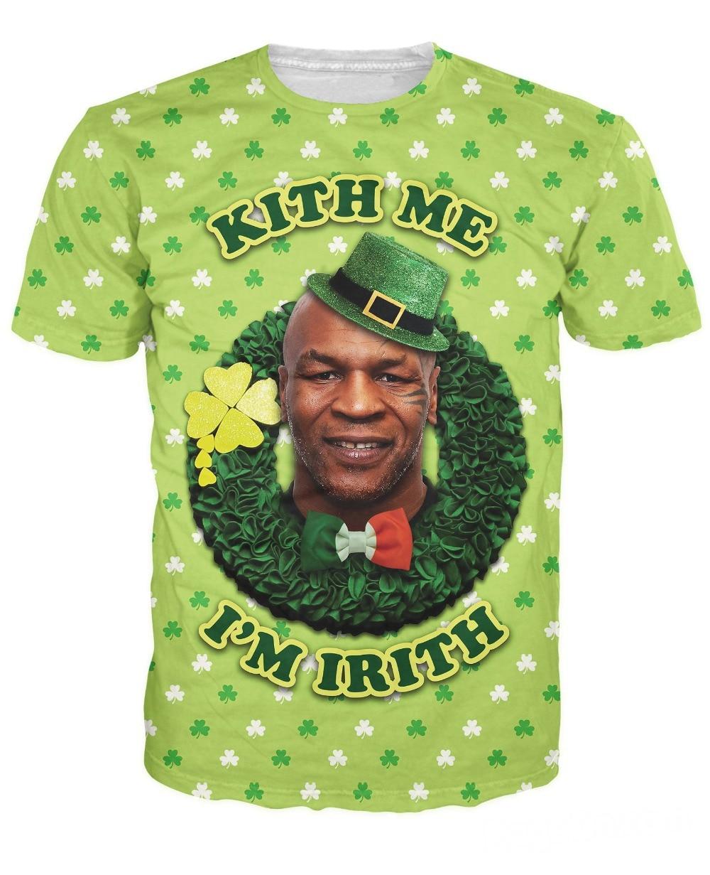 befce578 Unisex Women Men 3d Fashion Clothing tops killer Tyson Patty's Day T-Shirt  St. Patrick's Day t shirt I'm irith kith me print tee