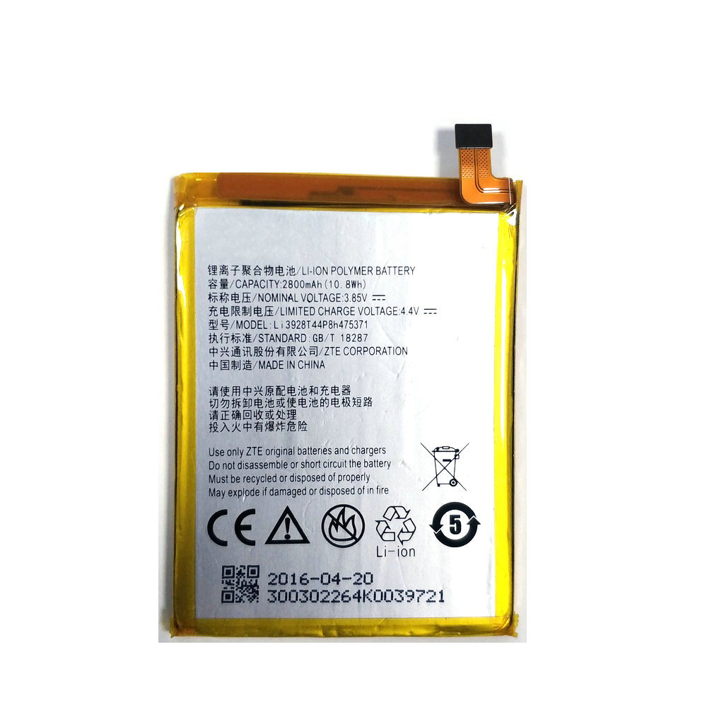 New Li3928T44P8h475371 2800mAh Battery For <font><b>ZTE</b></font> Blade A1 C880 C880U C880A <font><b>C880S</b></font> AXON Mini B2015 B2016 Xiaoxian 3 Phone image