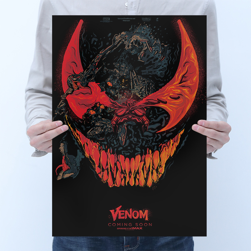 Marvel Venom Posters Sticker Toys For Adults 2020 New Marvel Venom Figures Movie Poster Stickers Decals Venom Sticker Home Decor