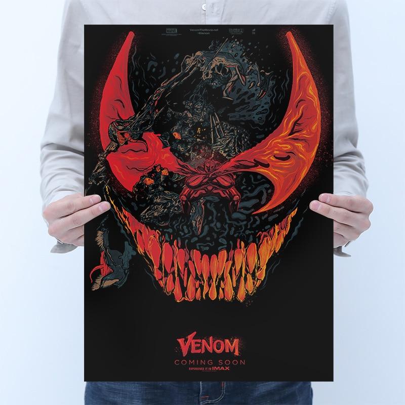 Marvel Venom Posters Sticker Toys For Adults 2020 New Marvel Venom Figures Movie Poster Stickers Decals Venom Sticker Home Decor