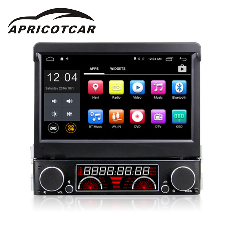 Car DVD Player for Universal 7 Inch 1 DIN Car Bluetooth Multimedia Player with Built-in GPS Function Support Rear camera
