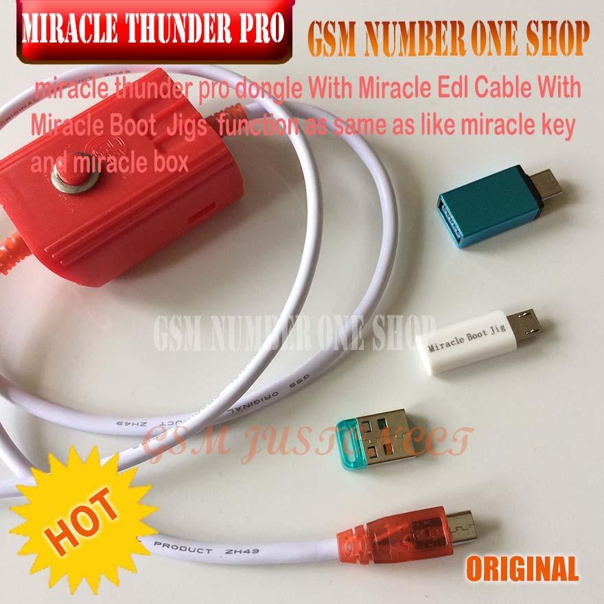 New Original Miracle Thunder key+ MRT dongle +EDL 9008 cable +