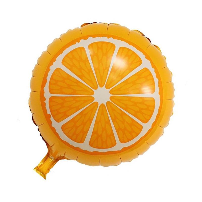5 шт./лот 18 дюймов Фольга шары День рождения Свадебные украшения (Orange) 45*45 см