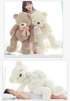 63 дюйма плюшевые животные медведь большой размер 160 см новые стильные плюшевые игрушки ткань куклы игрушки в виде животных с плюшевой набив