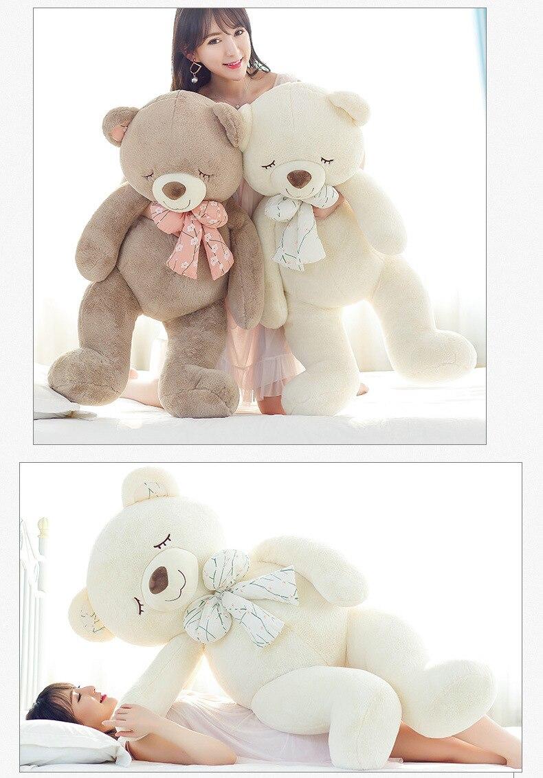 63 pouces en peluche animaux ours grande taille 160 cm nouveau Style en peluche jouets tissu poupée en peluche animaux poupées enfants filles cadeau d'anniversaire