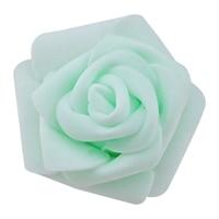 High Quality 100pcs / bag 6cm Foam Rose Heads Artificial Flower Heads Wedding Decoration(mint green)