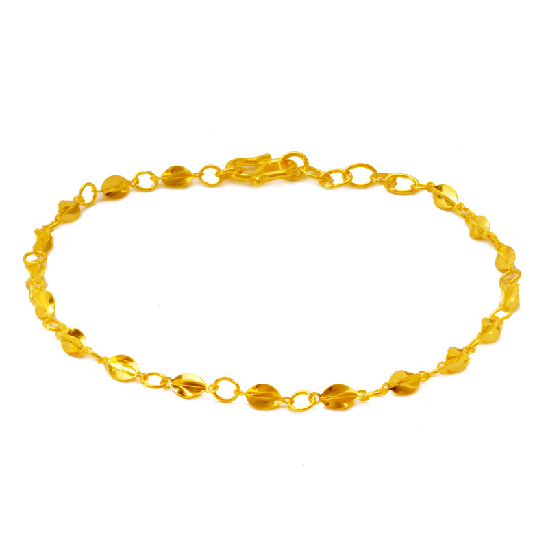 Pure Solid 24K Yellow Gold Bracelet Best Butterfly Carambola adjustable Bracelet 2 95g