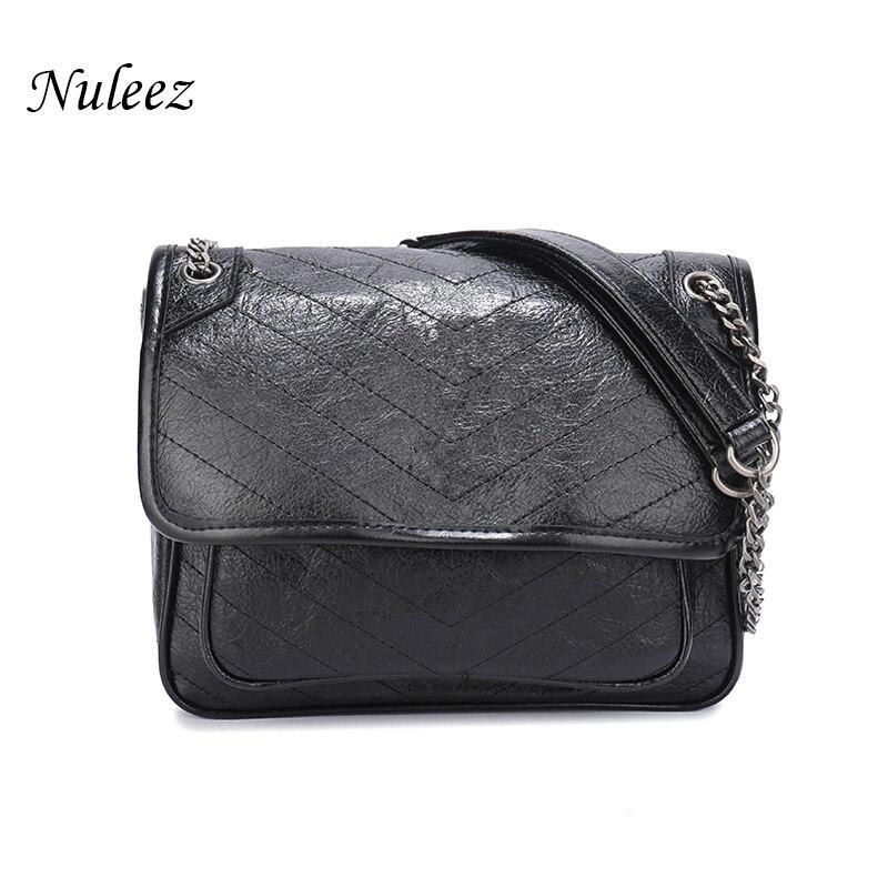 Nuleez Y genuine leather satchels bag cowhide bag women 2019 European famous fashionable useful bag favorite