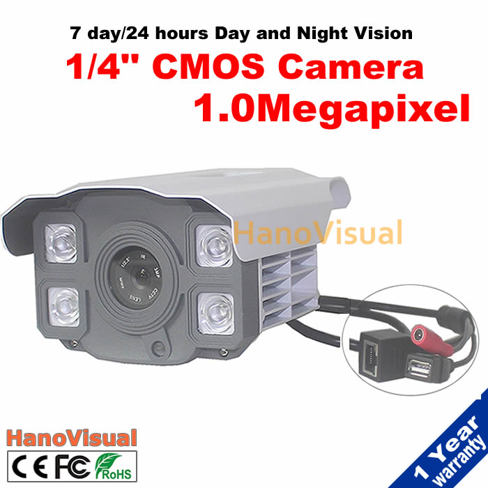 ФОТО Free shipping!Promotion 720P 1.0MP 1/4'' CMOS onvif night vision Outdoor Waterproof network camera Remote view with USB Storge