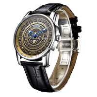 Relojes mecánicos automáticos originales para hombre  relojes de marca superior de lujo con Cuero Luminoso de zafiro  reloj Masculino