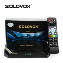 Nueva Llegada 10 UNIDS SOLOVOX V9S DVB-S2 HD Receptor de Satélite Soporte USB puerto WEB TV CCCAMD NEWCAMD Miracast Caja IPTV Set Top Box