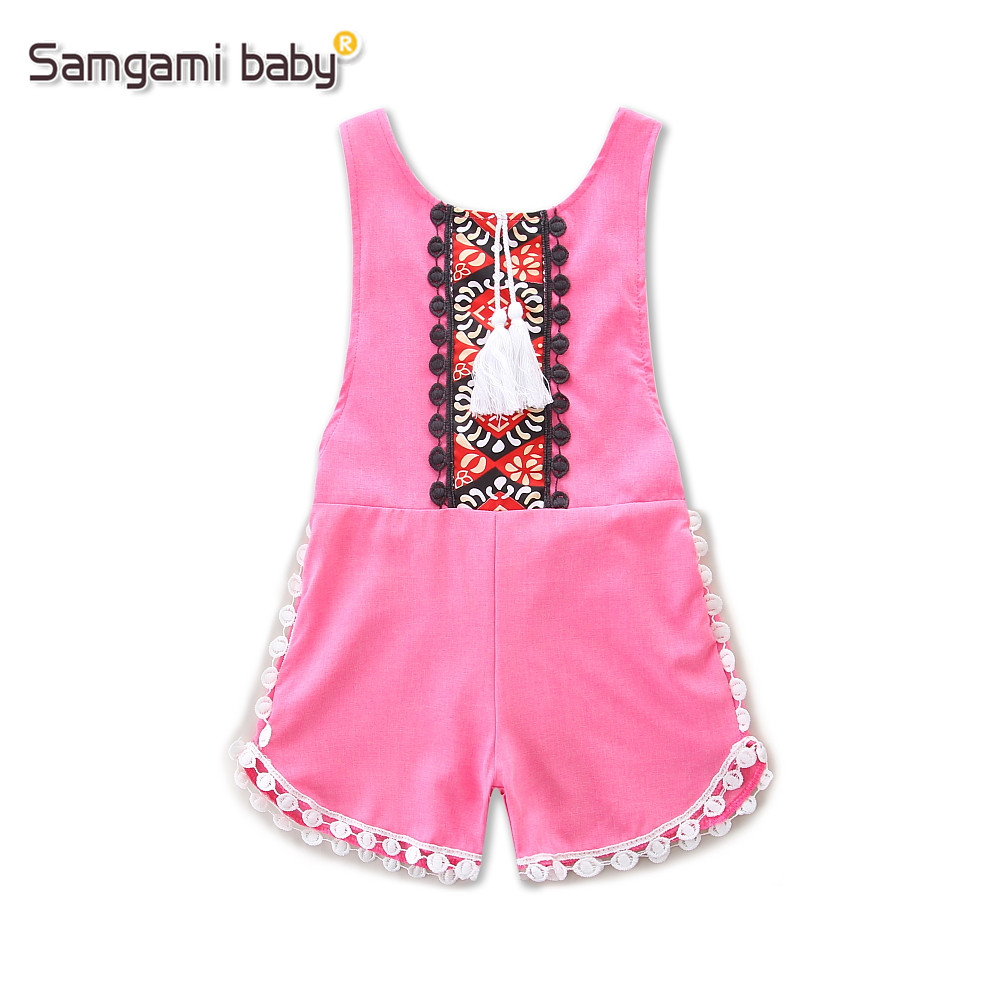 82ee84391 SAMGAMI BABY Summer Lace Newborn Infant Baby Girls Clothing Tassels ...