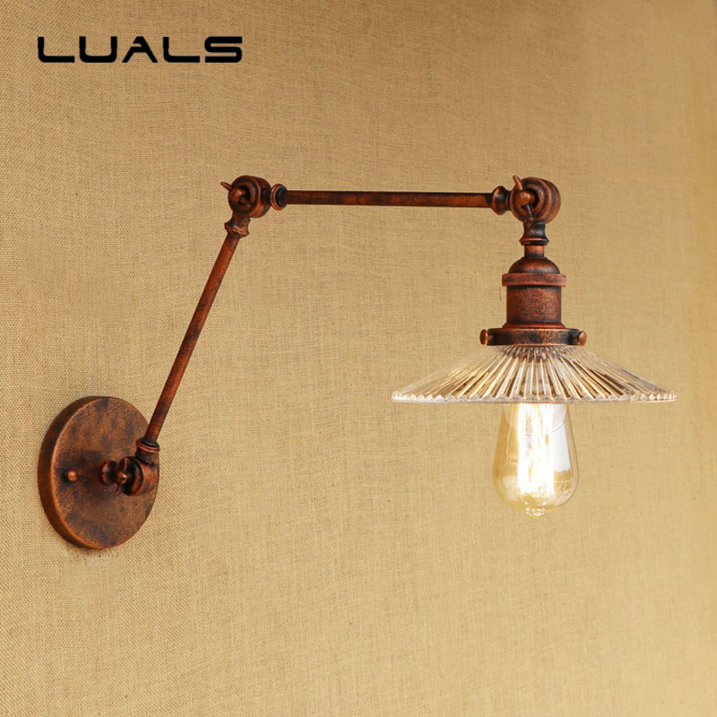 Loft Industrial Wall Lamp Creative Rusty Color Retro Wall Lamps Restaurant Edison Wall Lights Corridor Simple Indoor Lighting 2 pcs loft retro light rusty color hanging lamp cafe bar pendant lights creative edison lamps industrial style pendant lighting