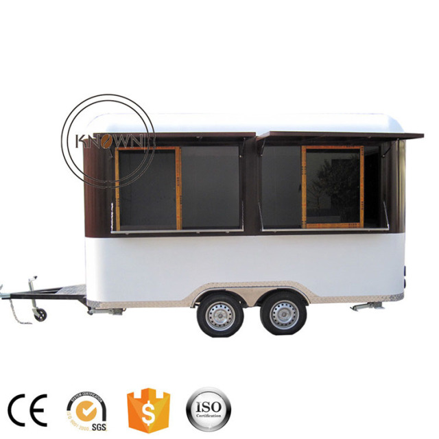 KNFS400R Made In China Mobile Fast Food Catering Trailer   cart Carts With four Wheels