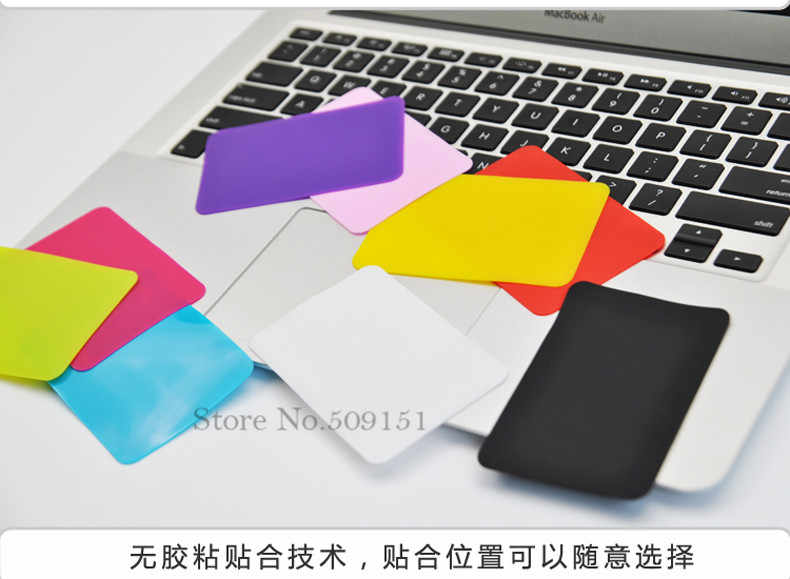 2 pièces/lot coussinet de paume en Silicone beaucoup de couleurs tampons de paume garde repose-poignet pour Macbook Lenovo IBM HP Sony Asus Acer Dell ordinateur portable