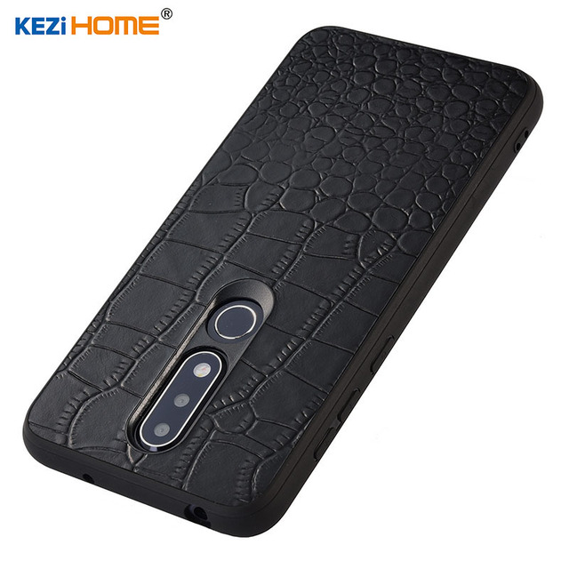 new product b1508 cec4b US $8.99 10% OFF|Case for Nokia 6.1 Plus KEZiHOME Luxury Crocodile texture  Genuine leather back cover for Nokia 6.1Plus X6 TA 1099 Phone cases -in ...