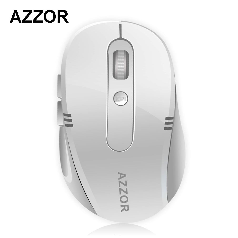 AZZOR S5 Rechargeable Wireless Mute Mini Mouse with USB Charging Cable 2.4GHz 2400 DPI Silent Mice No light Optical for Computer hxsj wireless mouse vertical mice ergonomic rechargeable 3 dpi optional adjustable 2400 dpi mouse with usb charging cable