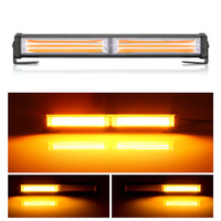 Car LED Strobe Flash Light Bar Fog Lamps Amber Light COB LED Car Warning Lamps 9 Modes Fireman Police Emergency Fog Work Lamp