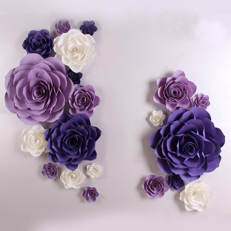 Большой моделирования картона гигантский Бумага розовыми цветами витрина Свадебные фонов реквизит Флорес artificiais Para decora o 4 варианта