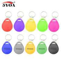 10pcs RFID 125 khz EM4100 Key Tag Keyfobs Ring Chip Keytab TK4100 Tags 125khz Read Only