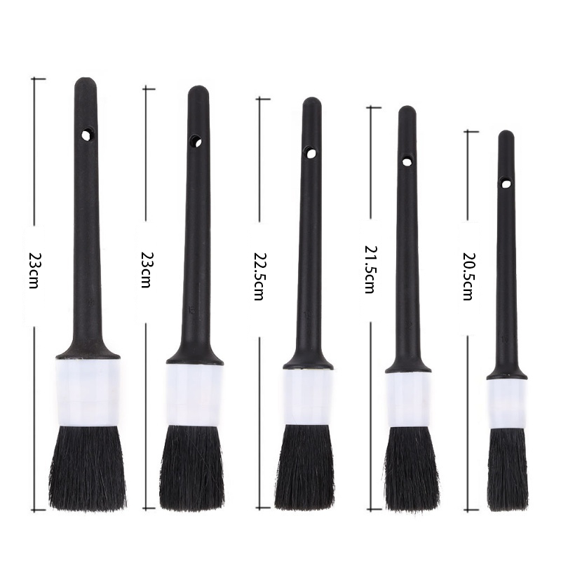 Image 3 - 1Pcs Car Detailing Brush Natural Boar Hair Cleaning Brushes Auto Detail Wheels Dashboard Car Styling Accessories New-in Sponges, Cloths & Brushes from Automobiles & Motorcycles