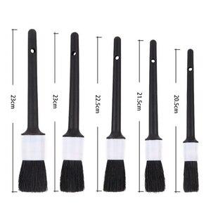 Image 3 - Cepillo para la limpieza del pelo de jabalí Natural, detalle automático de ruedas, salpicadero, accesorios de estilismo para coche, 1 ud.