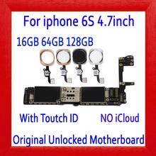Полностью разблокирована для iphone 6 S 6 S материнская плата с/без Touch ID, для iphone 6 S материнская плата с полным чипом, 16 Гб 64 г 128 г