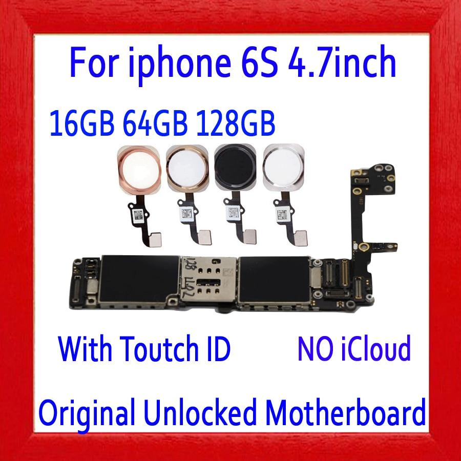 Pieno sbloccato per iphone 6 S 6 S Scheda Madre Con/Senza Touch ID, originale per iphone 6 S Mainboard con il Pieno di Chip, 16 GB 64G 128GPieno sbloccato per iphone 6 S 6 S Scheda Madre Con/Senza Touch ID, originale per iphone 6 S Mainboard con il Pieno di Chip, 16 GB 64G 128G