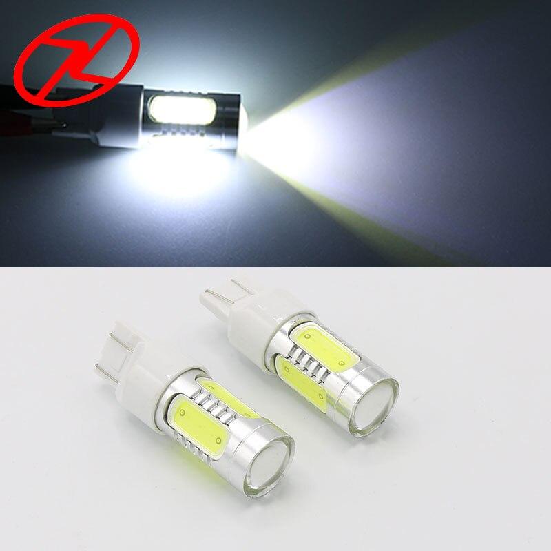 2ks T20 7443 W5 / 21W 7,5 W DC8V-24V Pure White Car Auto Tail Turn Signal LED Světla Žárovka