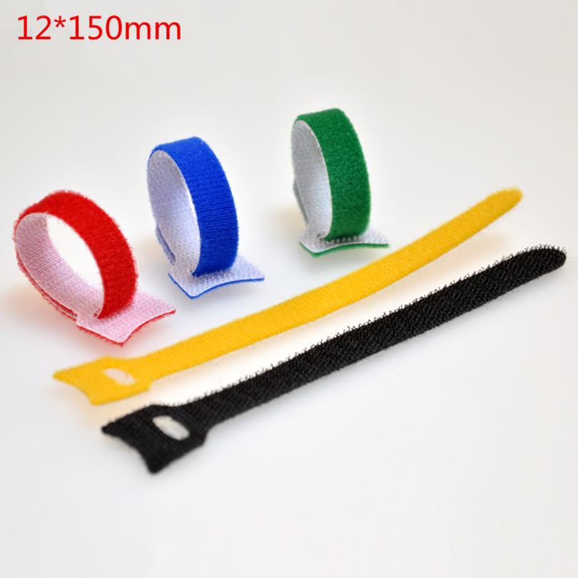 50pcs/lot 12MM x 150MM Back to Back Cable Ties Nylon Strap Power Wire Management Magic Tape Sticks for Computer Wire