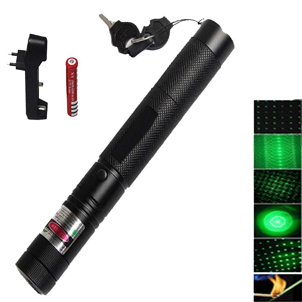 Queima de alta Potência Militar Poderosa mira laser 5000m 532nm lazer caneta Ponteiro Laser Verde Jogo Queimadura Focalizável