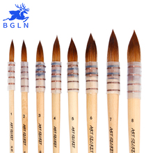 1Piece Korean Nylon Hair Watercolor Paint Brush Professional Pointed Artist Painting Brushes Acrylic Brushes Art Supplies 15RT chinese calligraphy brushes pen with weasel hair art painting supplies artist watercolor paint brushes