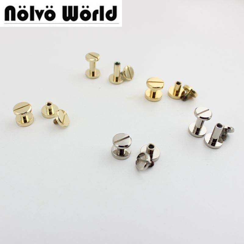 100pcs 9 5mm 10 9mm NEW Copper total height round flap head metal stud for punk