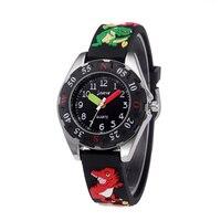 Wodoodporny silikonowy zegarek kwarcowy Cartoon dinozaur 3D pasy zegarki dla dzieci dla dziewczynki chłopiec dzieci zegar zegarki dla dzieci w Zegarki dla dzieci od Zegarki na