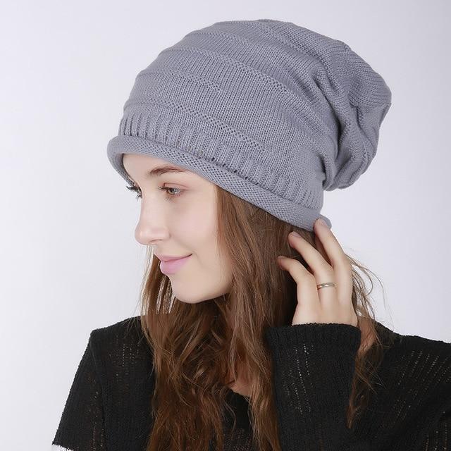 b7dd9ff9f US $3.45 19% OFF|Fashion Warm Cap Unisex Elasticity Knit Beanie Hats Winter  Hat For Men Skullies Beanies Women hat-in Men's Skullies & Beanies from ...