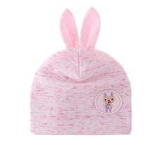 Baby Girls Tire Hat Cotton Solid Rabbit Hat With Ears Spring Autumn Warm Baby Beanie For Boys Lovely Newborn Baby Girls Clothing