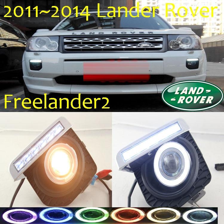 Freelander2 света тумана СИД,2011~2014,Бесплатная доставка!Freelander2 днем light2pcs+провода вкл/выкл:галоген/Ксеноновые лампы+балласт,Фрилендер 2