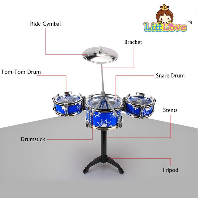 LittLove 어린이의 재즈 드럼 세트 드럼과 악기 장난감 - 학습 및 교육 - 사진 6