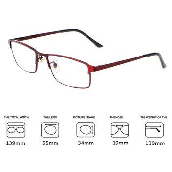 a8d28c0be7 Anti-Luz Azul gafas de lectura múltiple progresivo se gafas cerca de lejos  vista Marco de aleación de