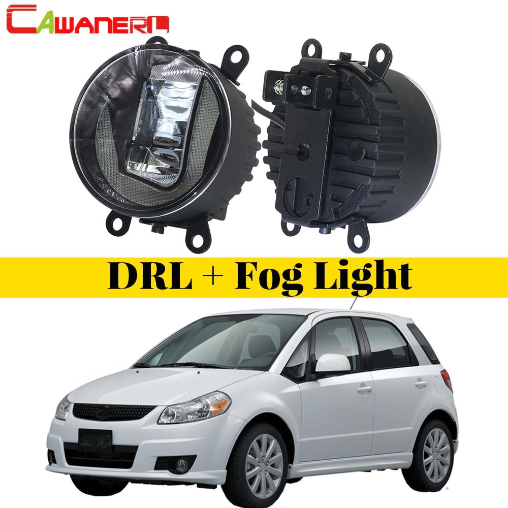 Cawanerl 2 X Car Styling LED Bulb Fog Light Daytime Running Lamp DRL White High Bright For Suzuki SX4 (EY, GY) 2006 2014