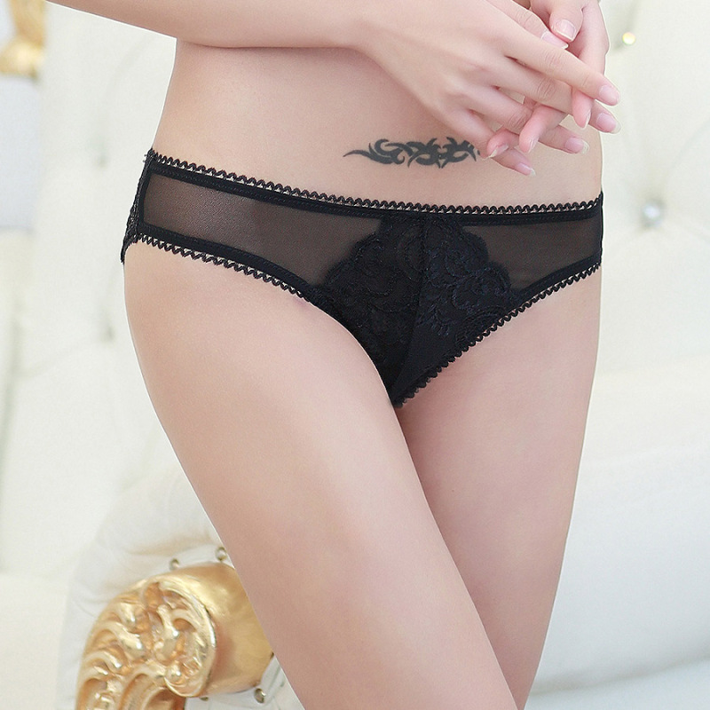 Transparent Net Yarn Sexy Low Waist Women Underwear Hollow Temptation Breathable Lady Pa ...